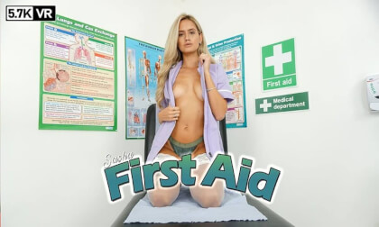 First Aid; striptease solo doctor nurse patient nylons perky tits fit blonde
