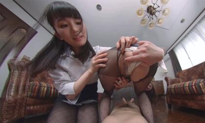 Misato Nonomiya and Ikumi Kuroki – Having My Dick Teased By Lewd Women in Black Pantyhose Part 2