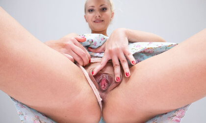 Helena's Delicious Pussy; blonde czech babe facesitting POV
