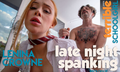 Late Night Spanking - Prologue; Young British Redhead Teen Schoolgirl