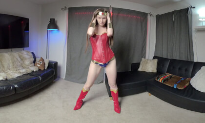 Halloween Wonder Woman - Hot Busty Amateur Cosplay