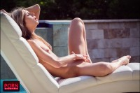 Gina Gerson Plays by the Pool VR porn