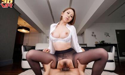 Erika Kitagawa – Lewd Office Lady Pantyhose JOI Leads to Sex Part 2