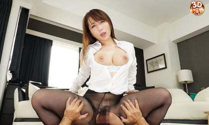Mao Kurata – Lewd Office Lady Pantyhose JOI Leads to Sex Part 2
