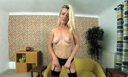 Rosa Brighid - Lingerie Striptease Blonde Solo Model Tease