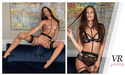Pure Perfection with Little Caprice - Shaved Lingerie Fingering