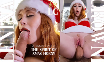 The Spirit of Xmas Horny - Amateur Brunette Fucks in a Santa Costume