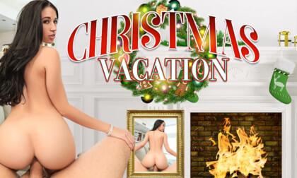 Christmas Vacation; strangers hook up big tits deep fucking creampie
