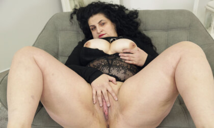 Lady Matylda - Big Tits Mature BBW Solo Masturbation
