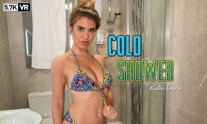 Cold Shower - Big Tit Babe in the Shower VR Striptease