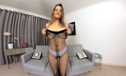 Lottii Rose - Sexy Amateur Teen in a School Girl Uniform Solo Striptease