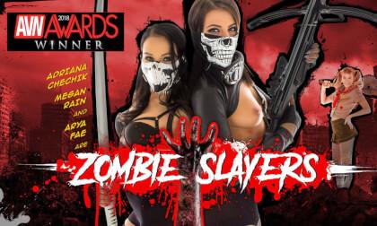 Zombie Slayers - Pornstar MFFF Foursome POV