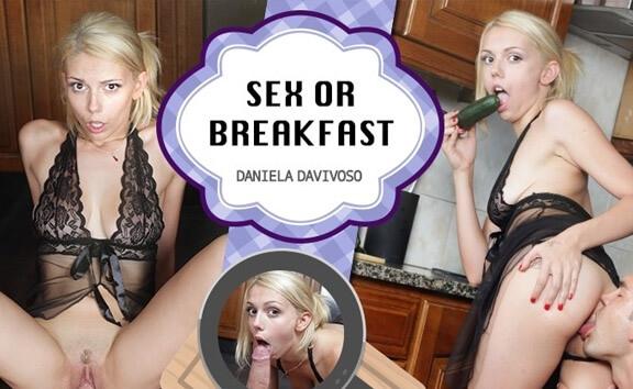 Sex or Breakfast - Petite Blonde Kitchen Sex