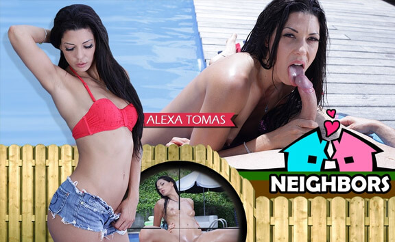 Neighbors - Shaved Pool Sex
