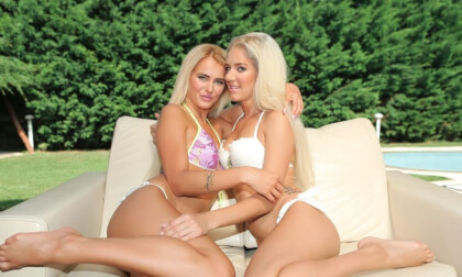 Best Of Friends - Blonde Lesbians Outdoors