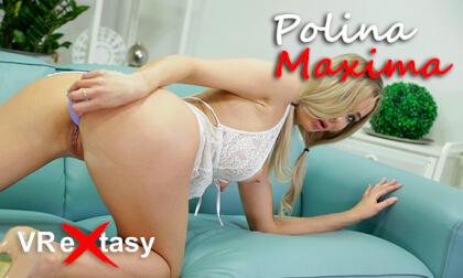 Polina Maxima Solo - Shaved Blonde Toying