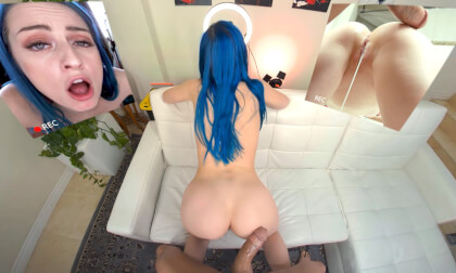 Multicam - Blu on the Casting Couch - Hot Babe with Blue Hair