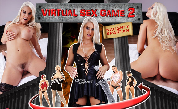 Virtual Sex Game 2 - Blonde in Stockings Riding