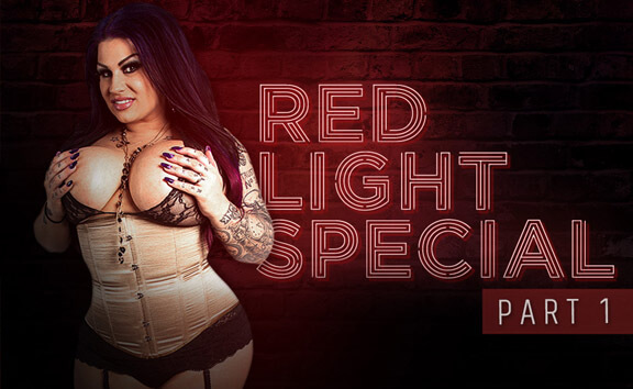 Red Light Special Part 1 - Busty Solo Model Oral