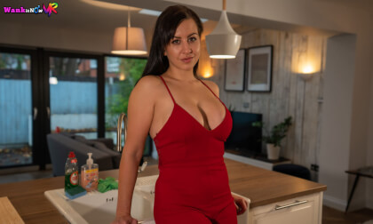 Red Dress - Big Tit Babe Solo