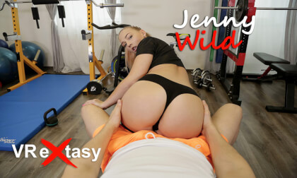 Jenny Wild - Passionate Sex after Hard Training; Blonde Babe Fucking at the Gym