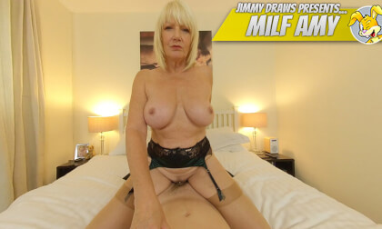 Milf Amy, Fucking The House Quest - Huge Tits Blonde MILF Rides You