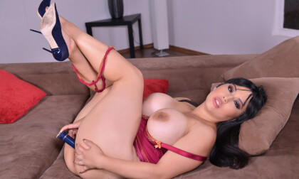Carnal Moments - Busty Asian Crams Pink Pussy With Vibrator