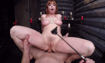 Eager to Serve Pt. 2 - Redhead Submissive Bondage Riding