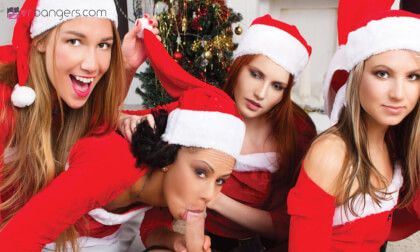 Merry XXXmas and Naughty New Year: part 1 - FFFFFMM Group Sex Party