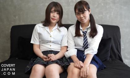 Let's Get The English Teacher! (starring Japanese schoolgirls Amane & Yuu); Japanese Schoolgirl Threesome
