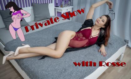 Private Show With Rosse - Redhead Masturbating 3D Porn Voyeur