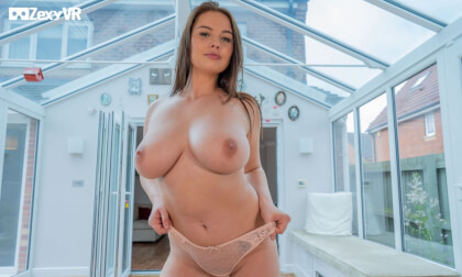 Busty Temptress - Huge Tits Babe Solo Striptease