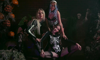 Skeletons  - Amateur Lesbian Softcore Threesome