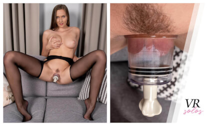 Stacy Makes Her Swollen Pussy Cum - Busty Babe Solo Masturbation and Pussy Pumping