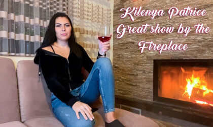 Kilenya Patrice - Fireplace; Brunette Amateur Babe Solo Stripping