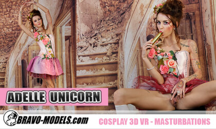 416 - Adelle Unicorn; Hot Solo Babe Playing with a Toy