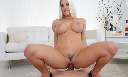 Big Boobs In Action - Busty Blonde Riding
