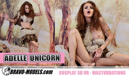 418 - Adelle Unicorn; Petite Babe Caveman Costume
