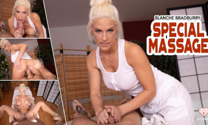 Special Massage With Blanche - Big Tits Blonde Pornstar Blowjob and Busty Sex