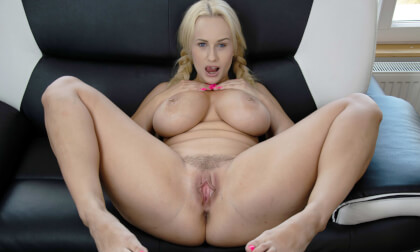 Angel Wings - Big Tit Blonde MILF Pornstar in Pigtails