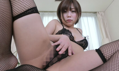 Mana Sakura – She Looks into Your Eyes and Whispers as She Masturbates with You