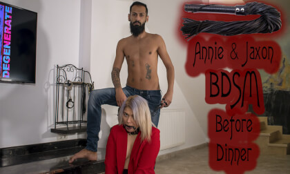 Annie & Jaxon BDSM Before Dinner - Amateur Bondage and Servitude Training Session