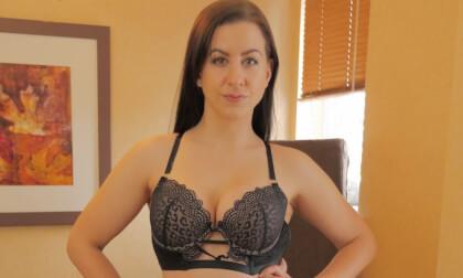 Like A Dirty Stripper - Brunette Amateur in Black Lingerie