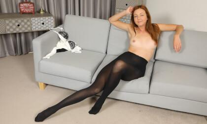 Elen E - Roll Neck; Cute redhead Stripping