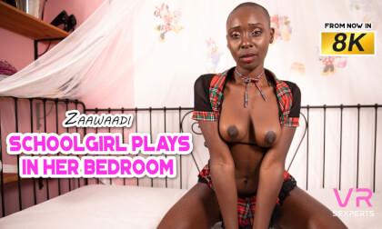 Schoolgirl Plays In Her Bedroom