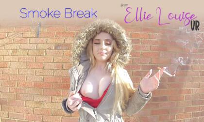 Smoke Break - Blonde Teen Amateur Smoking