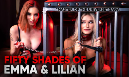 Fifty Shades of Emma & Lilian  - Dominating a Young Blonde with a Busty Redhead in a BDSM MFF Threesome