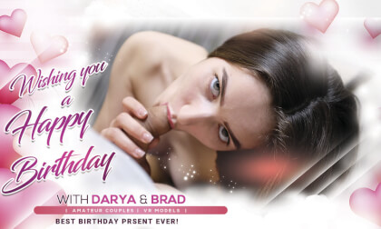 Wishing You A Happy Birthday! - Virtual Reality Blowjob with a Sexy Amateur Brunette