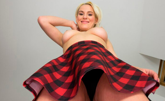 Lucy Shine Face-Sitting - Shaved Schoolgirl Upskirt