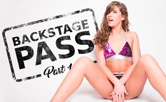 Backstage Pass Part 1 - Small Breasted Babe Fingering